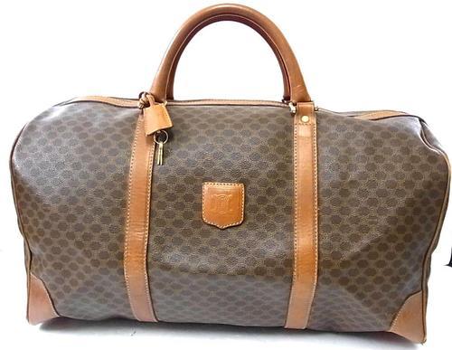 celine royal blue mini luggage - Handbags & Bags - Authentic Celine Paris Macadam Boston Duffle ...