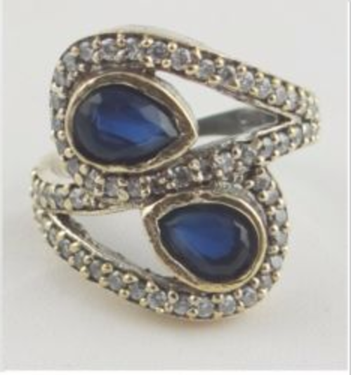 rings 925 sterling silver 7 3gr blue turkish sapphire