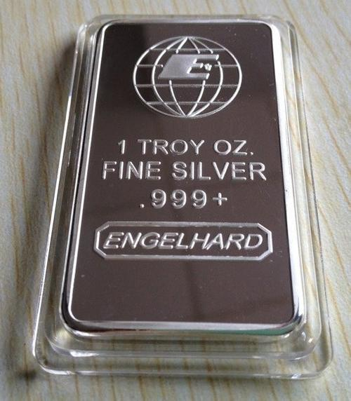 Bullion Bars Engelhard 1 Troy Oz 999 Fine Silver Bar