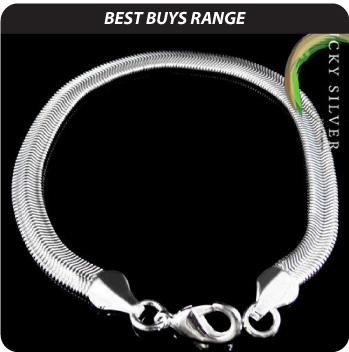 Silver Herringbone Bracelet