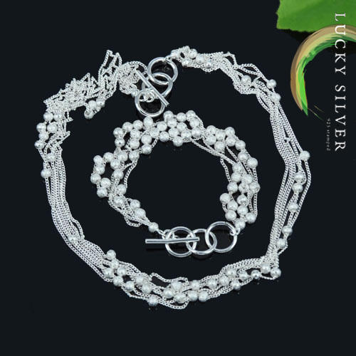 .925 sterling silver jewellery set necklace bracelet earring pendant
