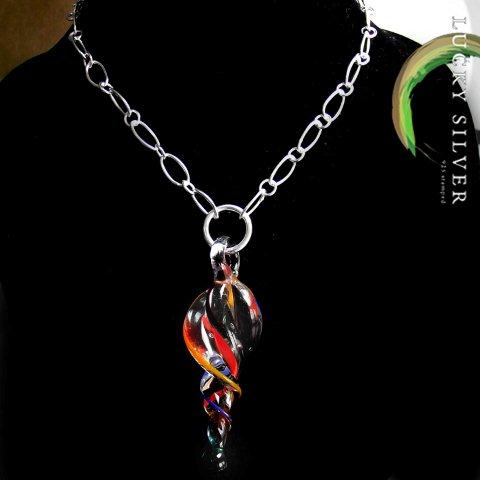 sterling silver Murano necklace