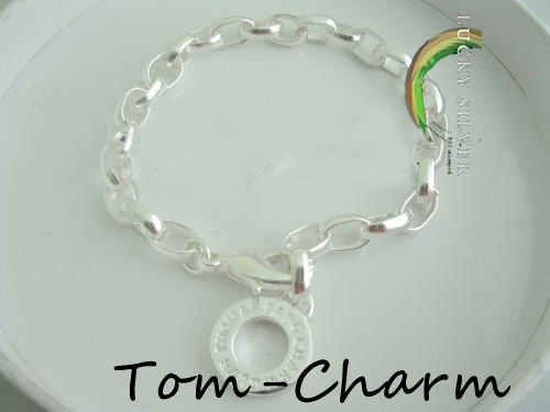 lucky 925 sterling silver Bracelet Bangle