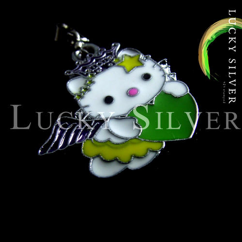 Lucky Silver Hello Kitty Pendant