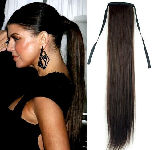 Hair Styling Products Hot Clip On Straight Ponytail