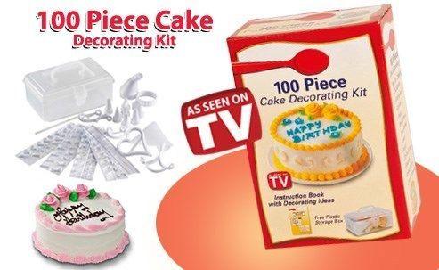 Cake decorating 100 piece cake decor set brand new was for 100 piece cake decoration kit