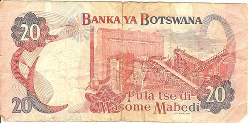 BANK OF BOTSWANA - 20 PULA - AS PER SCAN