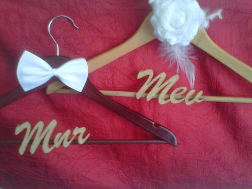 Other Wedding Apparel & Accessories - Personalized wedding coathangers ...