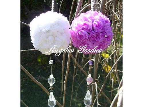 Wedding Decorations Hanging rose balls R50 Each white red pink