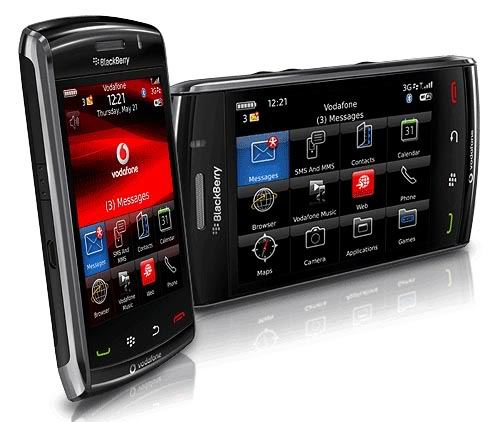 Black Blackberry Storm Smartphone 