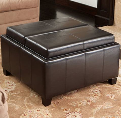 Ottomans Footstools Hazlo Leatherette Convertible Coffee Table Ottoman Was Sold For
