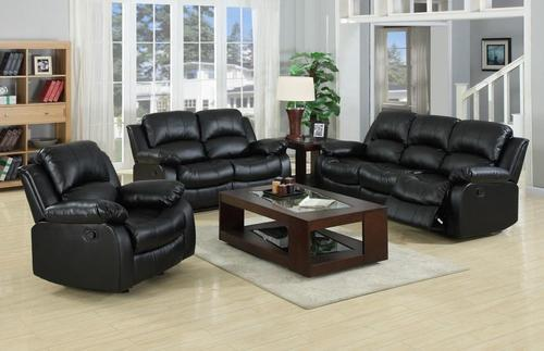 Lounge Suites 3 Piece Genuine Leather Recliner Set 6