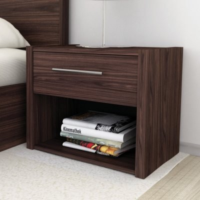 Small Bed Side Stand : Bedside Tables - Side Pedestal Bedside Table with Draw was sold for ...