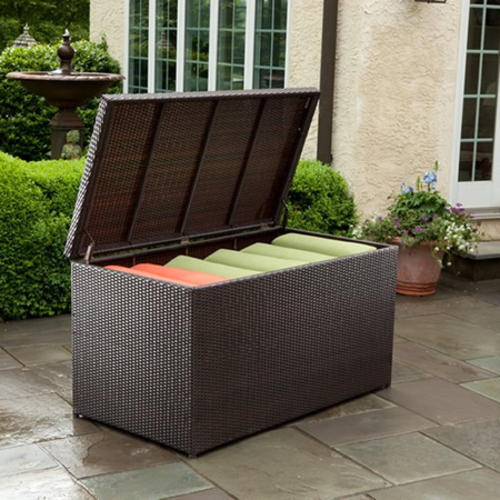 ... Outdoor Wicker Storage Ottoman. Made from durable and weather resistant  PE wicker with a powder coated aluminum frame, this storage chest comes in  a ... - Other Outdoor Furniture - Hazlo Outdoor Rattan Stroage Ottoman Was