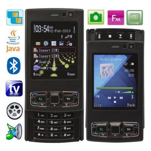 Main functions: TV, Camera, Image viewer, Video recorder, MP3, MP4 ...