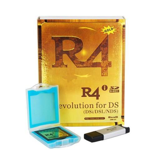 R4 SDHC Dual Core for 3DS XL LL 3DS 2DS DSi - r4 wood