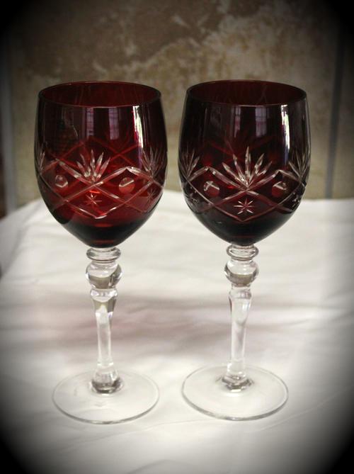 Drinking Glasses Stemware 2 Large Red Wine Glasses