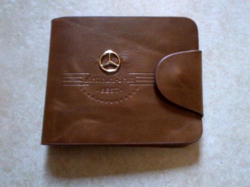 Wallets holders genuine leather mens wallet mercedes for Mercedes benz wallet