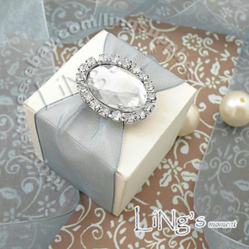 Wedding Gift Boxes Durban : Weddings - CLEAR Brad Diamante Wedding Stationery Favour DIY was sold ...