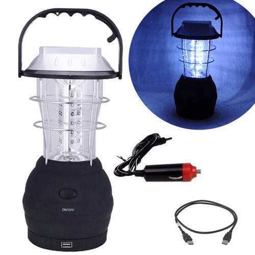 5 in 1 rechargeable 36 Hand Crank mobile Solar Lantern