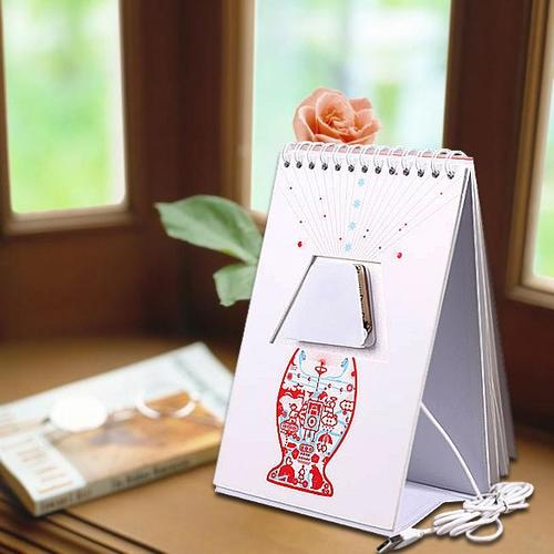 Diy Daily Flip Calendar : Desk lamps creative graffiti diy flip calendar table