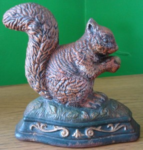 Other metalware wright studio squirrel door stop was listed for on 12 may at 23 31 by - Cast iron squirrel door stop ...