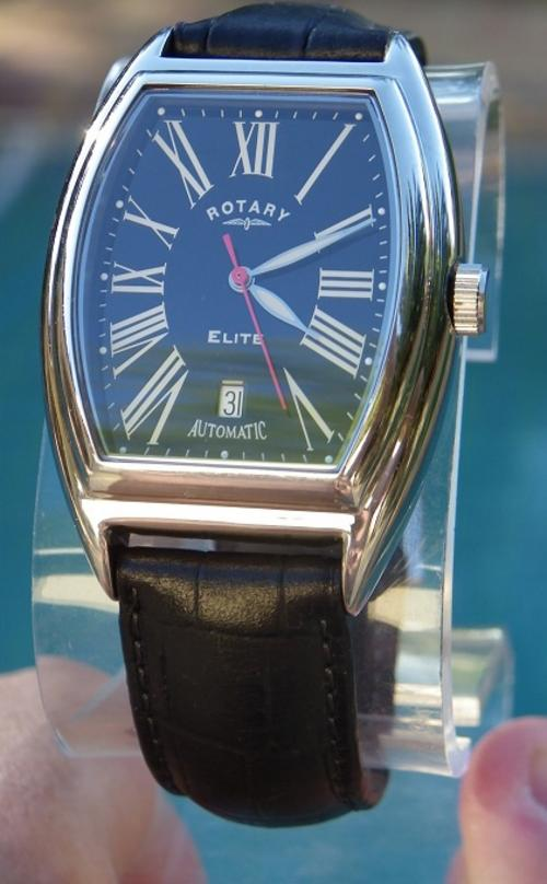men s watches rotary elite limited edition only 500 made a little wear on the strap thats it