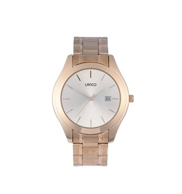 Men 39 s watches lanco mens round gold watch clearance sale was sold for on 2 nov for Watches clearance