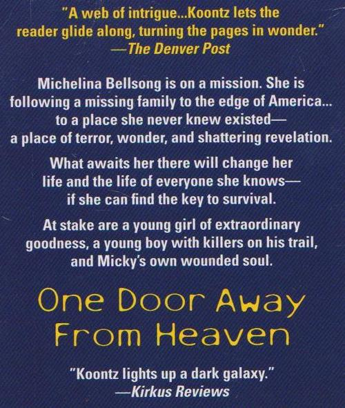 one door away from heaven essay One door away from heaven has 18,055 ratings and 602 reviews edward said: dnf @ page 159i normally do not give ratings and in-depth reviews to titles.
