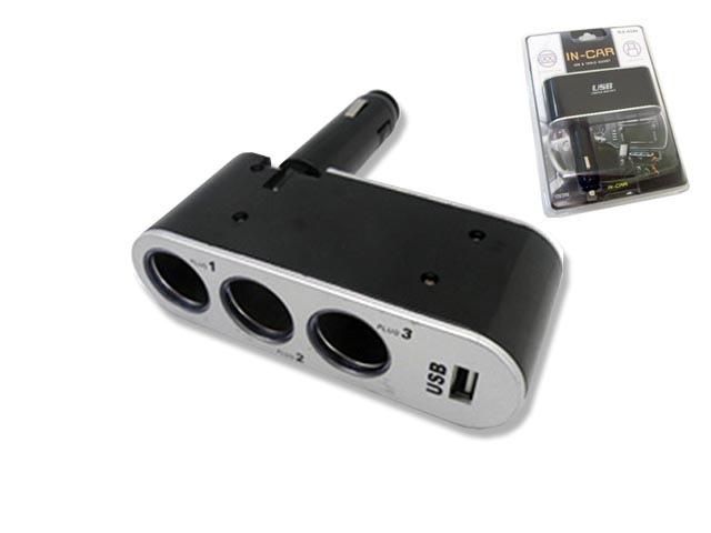 USB Triple-Socket Adapter