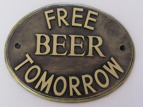 free beer,sign,plaque