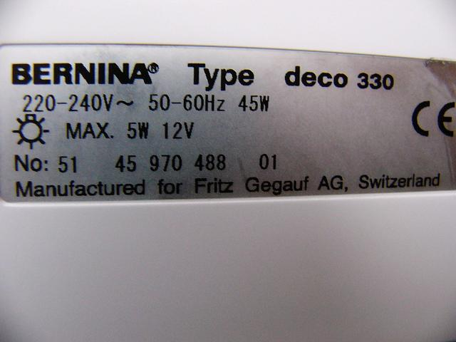 BERNINA DECO 500 EMBROIDERY MACHINE