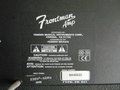 fender frontman pr 241 manual