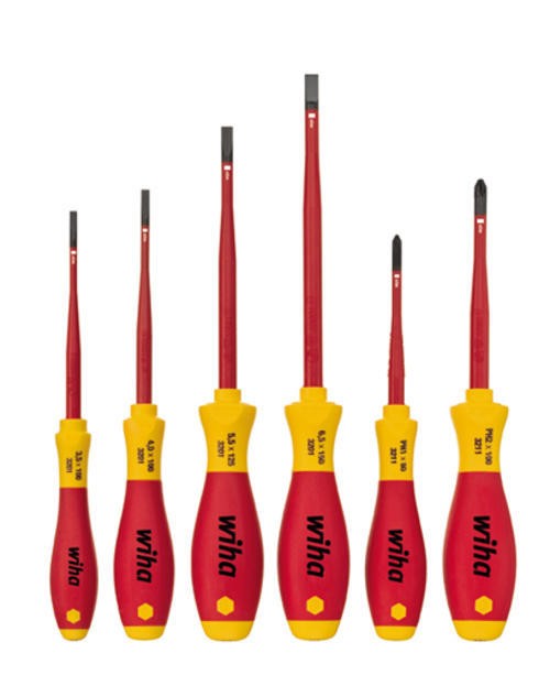 screwdrivers 6 piece electrical insulated screwdriver set. Black Bedroom Furniture Sets. Home Design Ideas