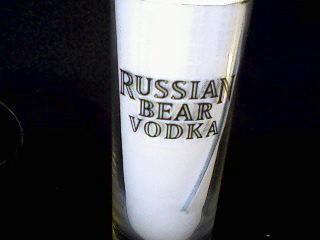 Bar Accessories - 2 RUSSIAN BEAR VODKA DRINKING GLASSES ...  Bar Accessories...