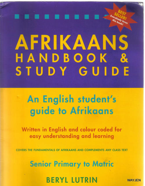Preposition In Learn In Marathi All Complate: AFRIKAANS HANDBOOK AND STUDY GUIDE.AN