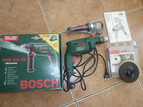 drills bosch psb 500 re electric drill was sold for on 27 jul at 20 00 by peanutty in. Black Bedroom Furniture Sets. Home Design Ideas