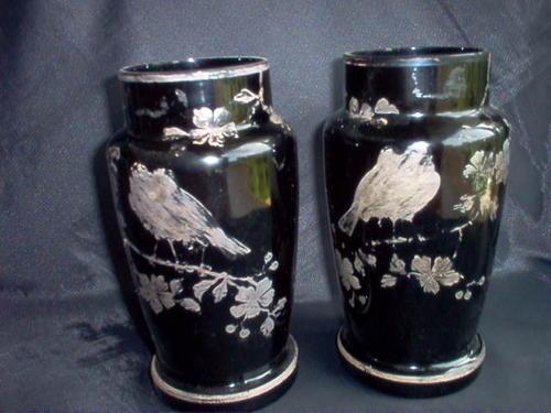 Loetz Glass (attr.) with Alvin Silver Overlay Vase, c. 1900
