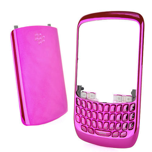 BlackBerry - Curve 8520 Housing Chrome Cover Key Keypad - Magenta was ...