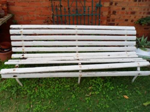 Other furniture lovely old wood and iron garden bench - Wood and iron garden bench ...