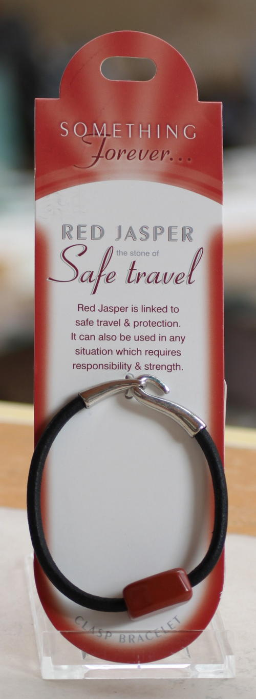 Clasp Bracelet - Red Jasper (The Stone of Safe Travel)