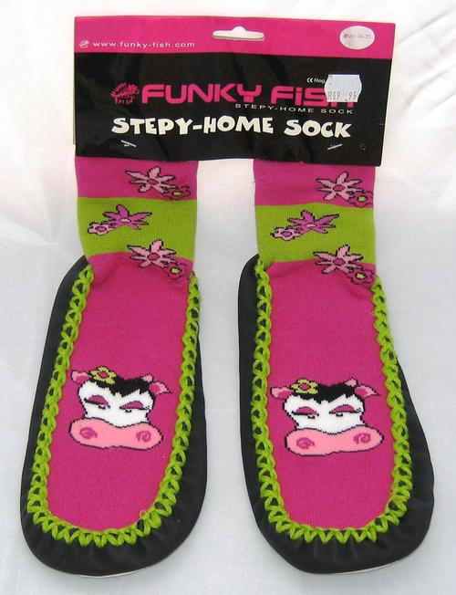 Funky Fish Steppy Home Socks