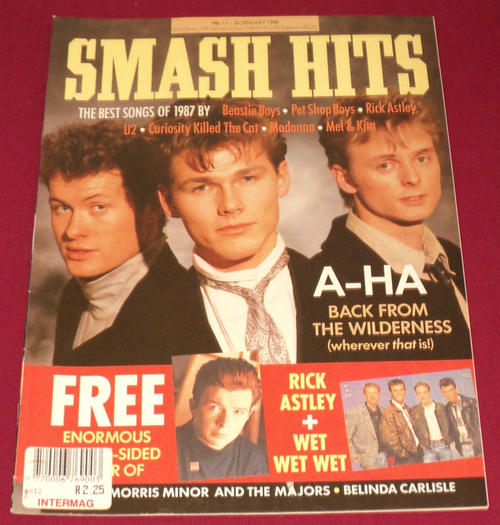 Magazines a ha smash hits 13 26 jan 1988 uk for Songs from 1988 uk