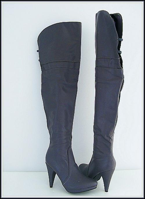 shoes r1 size 6 grey thigh high boots was sold