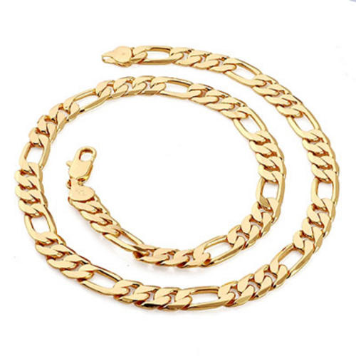 chains necklaces stylish mens gold ep neck chain 6mm. Black Bedroom Furniture Sets. Home Design Ideas