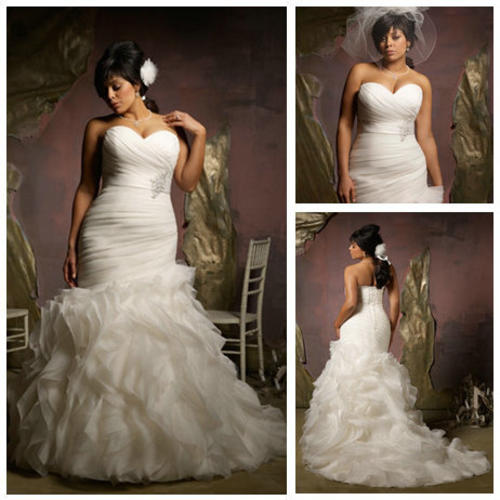 Wedding Dresses   Us : Wedding dresses free shipping ivory organza ruffle