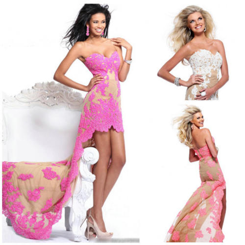 Formal Dresses - FREE SHIPPING- High Low Beautiful Lace Matric ...