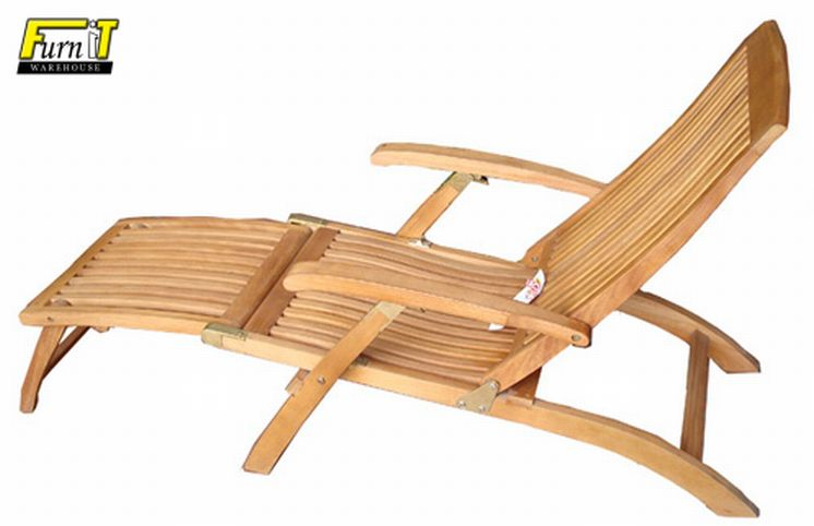 Deck Chair Position Adjustable Balau Hardwood