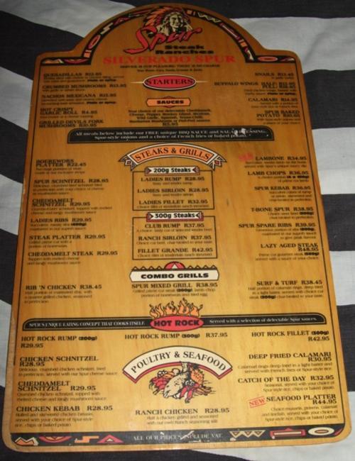 Silverado Restaurant Menu