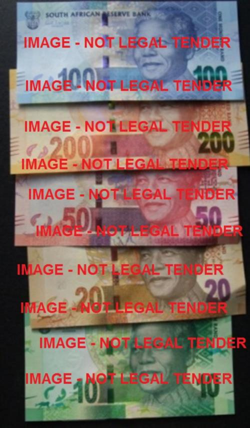 Mandela south africa sa note coin currency new money fresh bank sarb